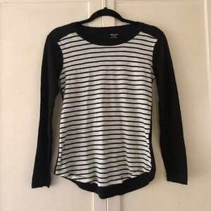 Madewell | Black and White Striped Tee | XS